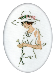 Cross Stitch Kit Lady in White - RTO