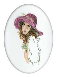 Cross Stitch Kit Lady with the Posy - RTO