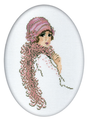 Cross Stitch Kit Lady in Boa - RTO