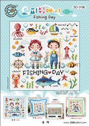 Cross Stitch Chart Fishing Day - Soda Stitch