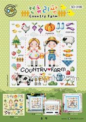 Cross Stitch Chart Country Farm - Soda Stitch