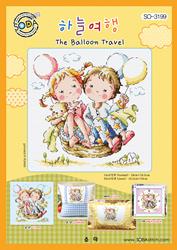 Cross Stitch Chart The Balloon Travel - Soda Stitch