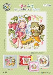 Borduurpatroon Strawberry Fairy - Soda Stitch