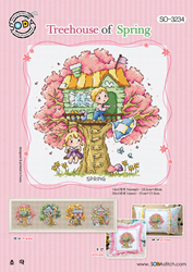 Cross stitch chart Treehouse of Spring - Soda Stitch