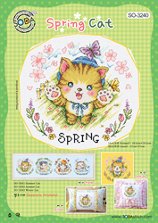 Cross stitch chart Spring Cat - Soda Stitch