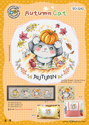 Cross stitch chart Autumn Cat - Soda Stitch