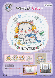 Cross stitch chart Winter Cat - Soda Stitch