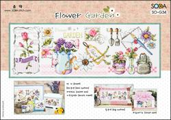 Borduurpatroon Flower Garden - Soda Stitch