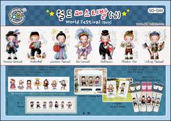 Borduurpatroon World Festival Boy - Soda Stitch
