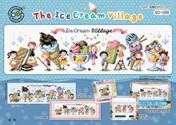 Borduurpatroon The Ice Cream Village - Soda Stitch