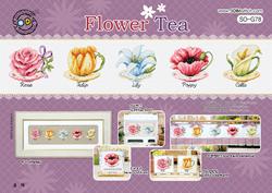 Cross Stitch Chart Flower Tea - Soda Stitch