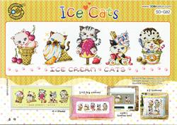 Cross Stitch Chart Ice Cats - Soda Stitch