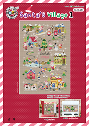 Borduurpatroon Santa's Village 1 - Soda Stitch