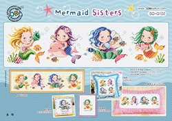 Borduurpatroon Mermaid Sisters - Soda Stitch