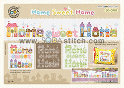 Borduurpatroon Home Sweet Home - Soda Stitch