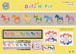 Borduurpatroon Dala Horse - Soda Stitch