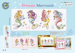 Borduurpatroon Princess Mermaids - Soda Stitch