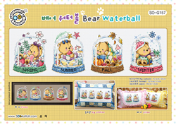 Cross stitch chart Bear Waterball - Soda Stitch
