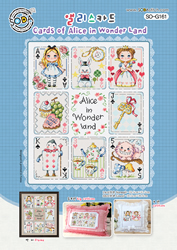 Borduurpatroon Cards of Alice in Wonder Land - Soda Stitch