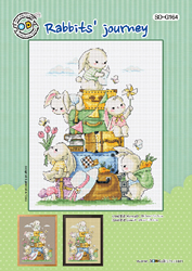 Cross stitch chart Rabbits' journey - Soda Stitch
