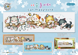 Cross stitch chart Cat Playground - Soda Stitch
