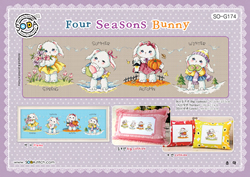 Cross stitch chart Four Seasons Bunny - Soda Stitch
