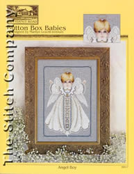Borduurpatroon Button Box Babies: Angel Boy - TIAG Butternut Road