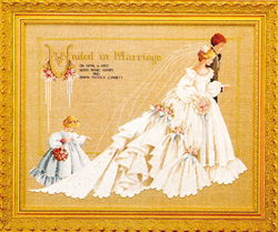 Cross Stitch Chart The Wedding - TIAG Lavender & Lace