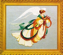 Cross Stitch Chart Angel of Autumn - TIAG Lavender & Lace