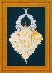 Cross Stitch Chart Peace Angel - TIAG Lavender & Lace
