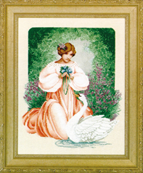 Cross Stitch Chart Lady Claire - TIAG Lavender & Lace