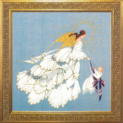 Cross Stitch Chart Angel of Mercy II - TIAG Lavender & Lace