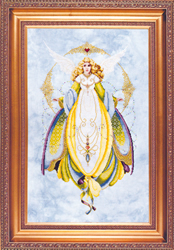 Cross Stitch Chart Angel of Healing - TIAG Lavender & Lace
