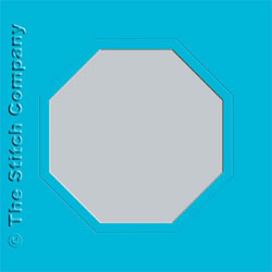 3 Aperture cards with Envelope Ocean Blue - The Stitch Company