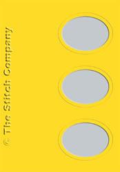 3 Passe-partout kaarten met Envelop Sunflower Yellow - The Stitch Company
