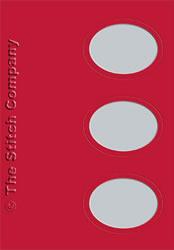 3 Passe-partout kaarten met Envelop Red - The Stitch Company