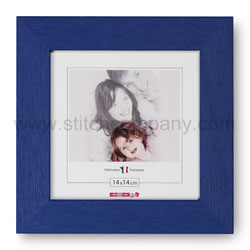 Wooden frame 14 x 14 cm, blue - The Stitch Company