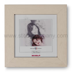 Wooden frame 14 x 14 cm, ivory - The Stitch Company