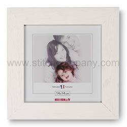Wooden frame 14 x 14 cm, white - The Stitch Company