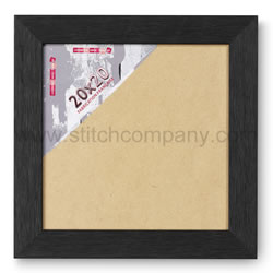 Wooden frame 20 x 20 cm, black - The Stitch Company