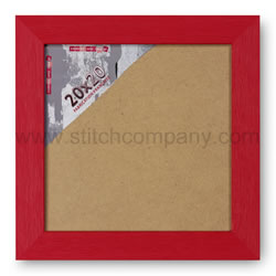 Wooden frame 20 x 20 cm, red - The Stitch Company