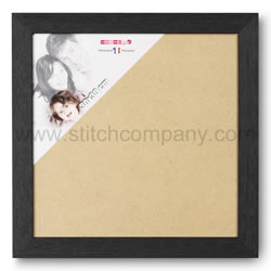 Wooden frame 30 x 30 cm, black - The Stitch Company