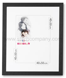 Wooden frame 40 x 50 cm, black - The Stitch Company