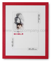 Wooden frame 40 x 50 cm, red - The Stitch Company