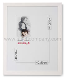 Wooden frame 40 x 50 cm, white - The Stitch Company