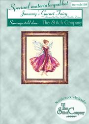 Materialkit January's Garnet Fairy - The Stitch Company