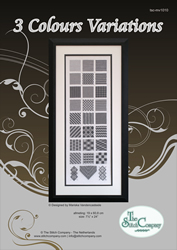 Cross Stitch Chart 3 Colour Variations - The Stitch Company