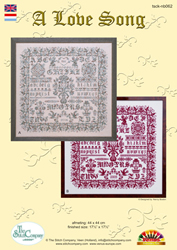Cross Stitch Chart A Love Song - The Stitch Company