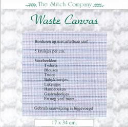 Waste Canvas ± 17x34 cm - The Stitch Company