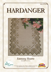 Hardanger Kit Fantasy Hearts - The Stitch Company